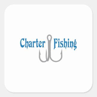 Charter Fishing Square Sticker