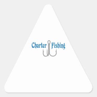 Charter Fishing Triangle Sticker