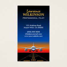Charter Flights Professional Pilot Business Cards at Zazzle