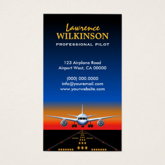 Charter Flights Professional Pilot Business Cards