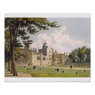 Charter House from the Play Ground, from 'History Poster
