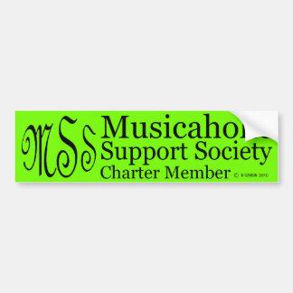 Charter Member Musicaholic Support Society Bumper Sticker