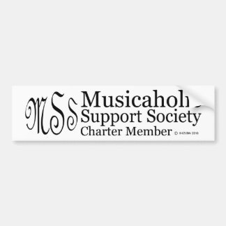 Charter Member Musicaholic Support Society Bumper Sticker