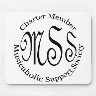Charter Member Musicaholic Support Society Mouse Pad