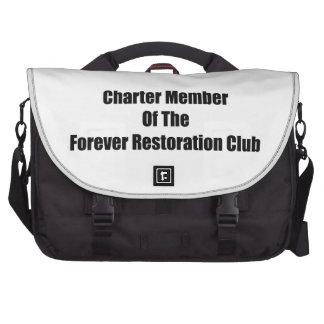 Charter Member Of The Forever Restoration Club Laptop Messenger Bag