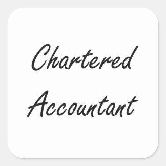 Chartered Accountant Artistic Job Design Square Sticker