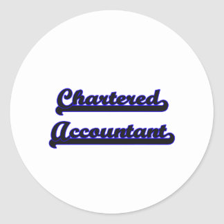 Chartered Accountant Classic Job Design Classic Round Sticker