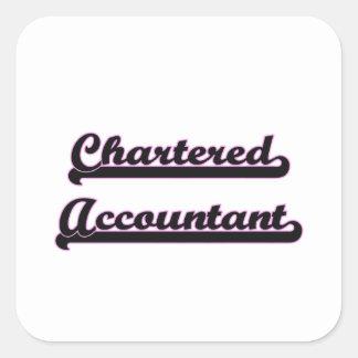 Chartered Accountant Classic Job Design Square Sticker