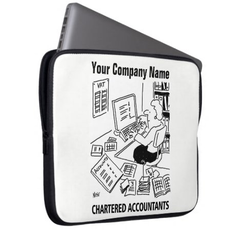Chartered Accountants Cartoon Lap Top Sleeve