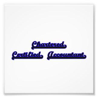 Chartered Certified Accountant Classic Job Design Photo Print
