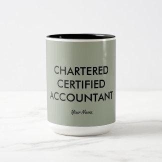 """Chartered Certified Accountant"" Two-Tone Coffee Mug"