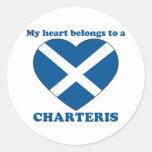 Charteris Round Sticker