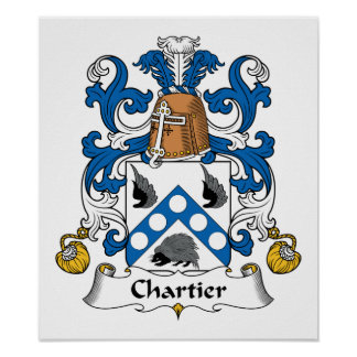 Chartier Family Crest Poster