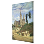 Chartres Cathedral, 1830 Canvas Print