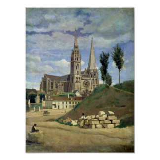 Chartres Cathedral, 1830 Print