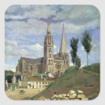 Chartres Cathedral, 1830 Square Sticker