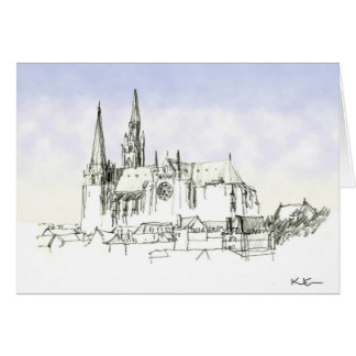Chartres Cathedral Greeting Cards