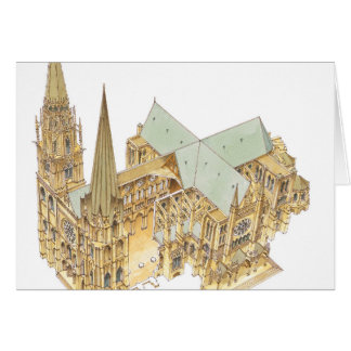 Chartres Cathedral. France Card