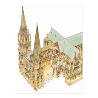 Chartres Cathedral. France Postcard