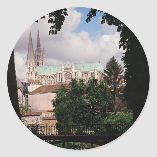 Chartres cathedral. France Round Sticker