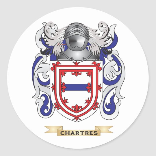 Chartres Coat of Arms Classic Round Sticker