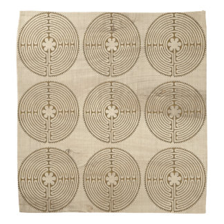 Chartres Labyrinth antique style 1 + your ideas Bandana