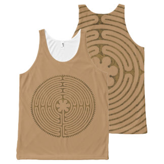Chartres Labyrinth antique style + your ideas All-Over-Print Tank Top