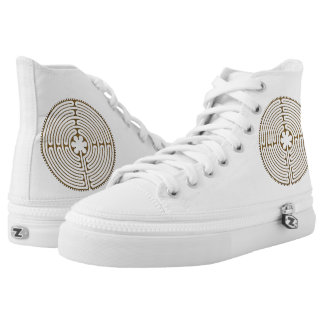 Chartres Labyrinth antique style + your ideas High-Top Sneakers