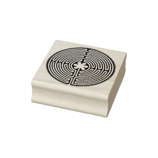 Chartres Labyrinth antique style + your ideas Rubber Stamp