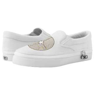 Chartres Labyrinth antique style + your ideas Slip-On Sneakers