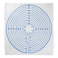 Chartres Labyrinth Blue Bandana