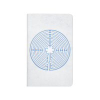 Chartres Labyrinth Blue Journal