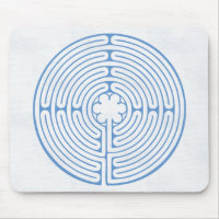 Chartres Labyrinth Blue Mouse Pad