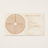 Chartres Labyrinth Business Card