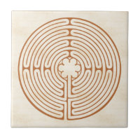 Chartres Labyrinth Ceramic Tile