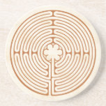 """Chartres Labyrinth Coaster<br><div class=""""desc"""">This design is based upon the Chartres Labyrinth found in the Chartres Cathedral in France. The path of this open, un-walled labyrinth is often walked as a form of moving meditation. Many find it to be soothing and healing. Smaller versions, such as this, can be used as a &quot;finger labyrinth&quot;...</div>"""