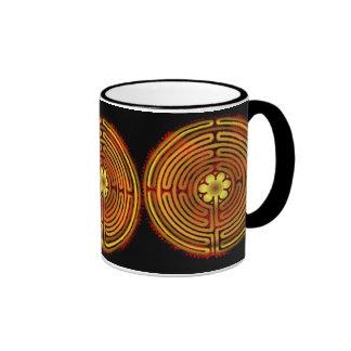 Chartres Labyrinth Fire Amaze Mug