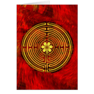 Chartres Labyrinth Fire Blank Card