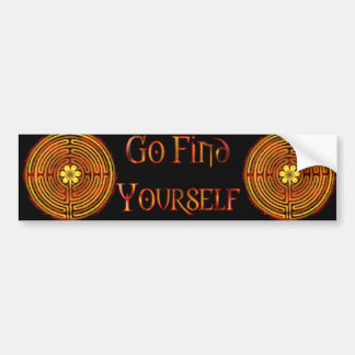 Chartres Labyrinth Fire Bumper Sticker