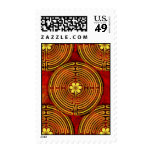 Chartres Labyrinth Fire Layered Postage