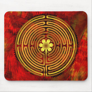 Chartres Labyrinth Fire Mousepad