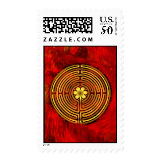 Chartres Labyrinth Fire Postage