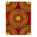 Chartres Labyrinth Fire Postcard