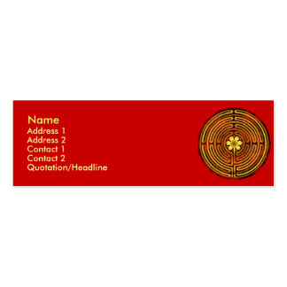 Chartres Labyrinth Fire Profile Cards Double-Sided Mini Business Cards (Pack Of 20)