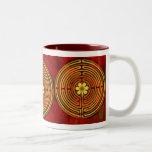 Chartres Labyrinth Fire Reddy Mug