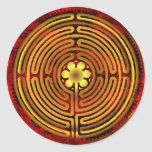 Chartres Labyrinth Fire Sticker