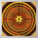 Chartres Labyrinth Fire Sun Print