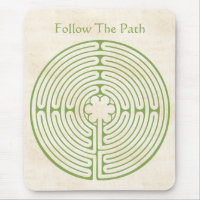 Chartres Labyrinth Green Mouse Pad