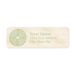 Chartres Labyrinth Green Return Address Label