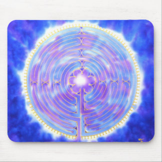 Chartres Labyrinth in Blue: A Silkandart Mouse Pad